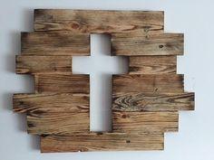 Reclaimed Wood Cross Wall Decor