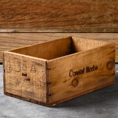 there are so many ways i would use a vintage seed crate