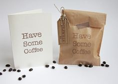 Have Some Coffee. Hand carved stamps from www.ik-stempel.nl