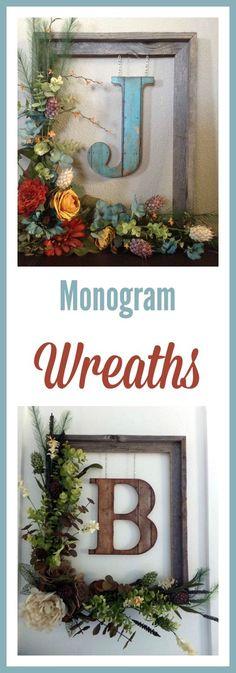 Monogram ideas for the home   modern farmhouse decor   rustic wreath ideas farmhouse style #affiliate