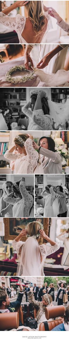 Photos David Latour - Robe wedding dress Palma Laure de Sagazan - Couronne Lila de Saint Louis
