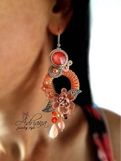 Soutache circle earrings by AdrianaJewelryStyle