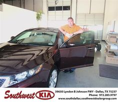 Happy Anniversary to Sandra Mcniff on your 2013 Kia Optima  from Clinton Bruguier and everyone at Southwest Kia Dallas!
