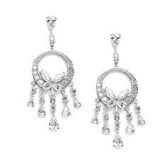 Dainty Cubic Zirconia Chandelier Earrings