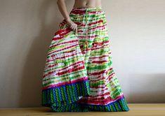 Multicolor Long skirt Maxi Skirt Stylish Long skirt