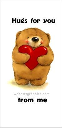 *hugs For Hurting Hearts Anyone Needs A Hug! : A true, personal story from the experience, I Have Many Hugs For You. Anyone needing hug. Angel Teddy Bear Hugs To You! Copy and PM to someone that needs a Teddy Bear Hug! Cute Hug, Cute Love, Bisous Gif, Hug Quotes, Love Wife, Need A Hug, Hug You, Big Hugs For You, Love And Hugs
