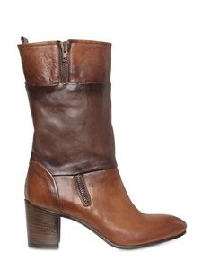 INK SHOES - 60MM BRUSHED LEATHER BOOTS