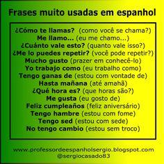 Frases muito usadas em espanhol. #espanhol #aprenderespanhol #espanholbásico