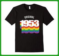 Mens Original 1953 LGBT T-Shirt 64 yrs old Bday 64th Birthday Medium Black - Birthday shirts (*Amazon Partner-Link)