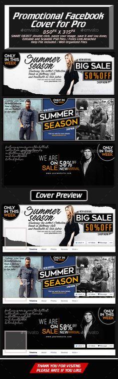 Promotional Facebook Cover Template PSD #design Download: http://graphicriver.net/item/promotional-facebook-cover-for-pro/14472346?ref=ksioks