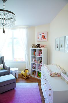 Chic Pink and Gray Nursery with modern, clean design