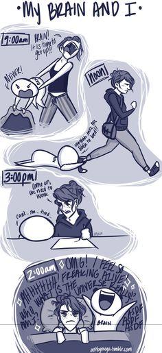 My Brain and I - Sleep by Artbymoga on DeviantArt