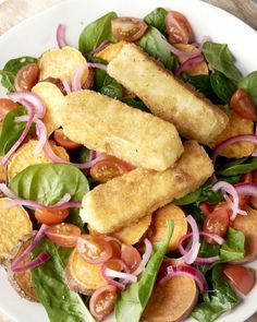 Deze zalige zelfgemaakte fetakroketjes moét je proeven. Een heerlijk krokant korstje, terwijl de fetakaas zachtjes wegsmelt, samen met een overheerlijke salade.