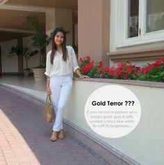 Gold & White....