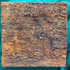 "Lynda Bleyberg. Mixed media on box canvas. 8"" by 8"". For sale- £150. info @lyndableybergart.co.uk"