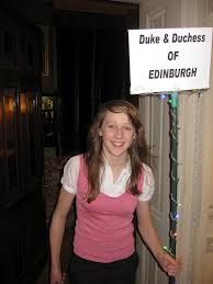 This, sadly, was not to announce that the Duke and Duchess of Edinburgh had arrived, or indeed, that this charming young lady *was* them, but that the Reel of the Duke and Duchess of Edinburgh was the next one up. This is helpful at 2am, when you've been in the bar for a while and can't find your dance card.