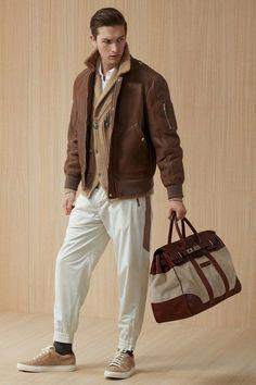 Men's brown cardigan