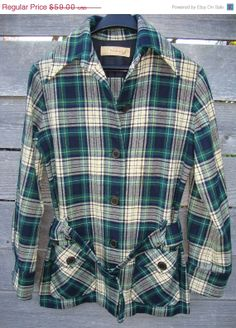 Sale Vintage Pendleton belted 49er Plaid Tarton by Simplemiles, $43.00