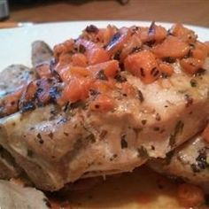 A wonderfully elegant and easy pork tenderloin dish with a creamy herbed wine sauce. Very rich, without all of the fat and calories!  Serve with garlic mashed potatoes.  A wonderful dish.