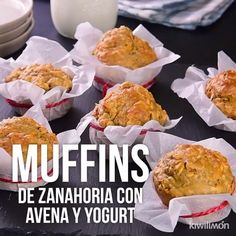 Healthy Snacks Discover Video de Muffins de Zanahoria con Avena y Yogurt muffins de zanahoria con avena y yogurt/ magdalenas Baby Food Recipes, Mexican Food Recipes, Dessert Recipes, Cooking Recipes, Food Baby, Clean Eating Snacks, Healthy Snacks, Healthy Recipes, Tasty Videos