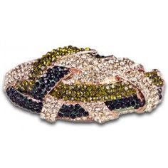 Jewelry Galore - Small Knot Bracelet in Navy & Green - $77 #jewelry #knot #bracelet #fashion #women