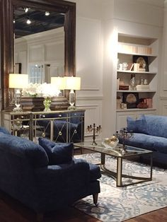 Going for gold (and blue) at High Point Market -  I noticed a particularly pretty trend at High Point Market this spring.      Satellite Table from Ambella Home    It had a little to do wit...