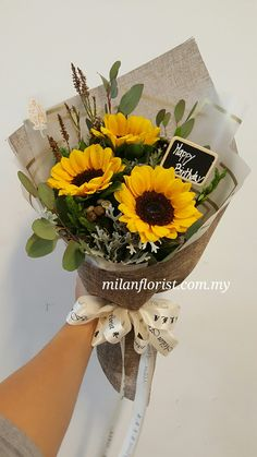 Flowers Summer Happiness 32 New Ideas How To Wrap Flowers, Dried Flowers, Beautiful Flowers, Bouquet Wrap, Hand Bouquet, Sunflower Bouquets, Floral Bouquets, Flower Boxes, Flower Decorations