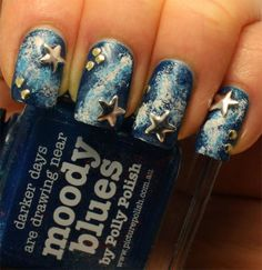 Galaxy nails with Born Pretty and Picture Polish!