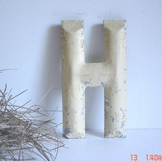 Vintage Marquee Letter H: more H for me