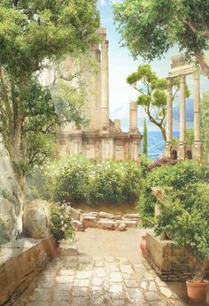 Ancient Greek Architecture, Classical Architecture, Architecture Art, Ancient Greek Buildings, Architecture Wallpaper, Sustainable Architecture, Greek Garden, Great Buildings And Structures, Greek Mythology