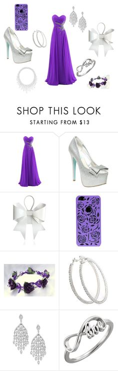 """""""Purple is love purple is life"""" by nosaj14 ❤ liked on Polyvore featuring Betsey Johnson, MM6 Maison Margiela and Graff"""