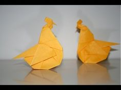 Origami Chicken - Poule - YouTube