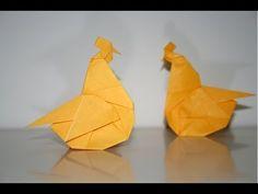 Ce pliage de poule par Naomiki Sato fera une jolie décoration de Pâques. Il n'est pas extrêmement dur à réaliser en dehors de quelques plis à faire sans repères pour la tête. Il vous faudra un carré d'au moins 15 cm de côté.  Pour encore plus de vidéos, photos et tutoriels, venez nous visiter sur http://www.senbazuru.fr