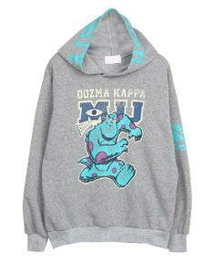 Cartoon Pattern Long Sleeves Hoody
