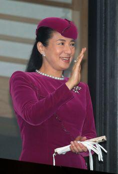 imperialfamilyjapan:  Emperor Akihito's 82nd birthday, Imperial Palace, December 23, 2015-Crown Princess Masako