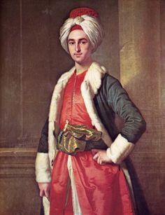 Jean-Etienne Liotard. William Ponsoby in costume turco. 1742-43