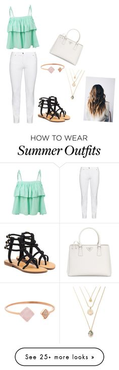 """""""Cute summer outfit"""" by lvalino0613 on Polyvore featuring LE3NO, Steilmann, Mystique, Prada and Michael Kors"""