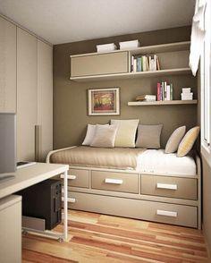 modern smart decor idea for small bedroom