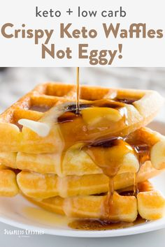 low carb recipes A keto waffle recipe like you have never seen before! Crispy, fluffy, not egg tasting and made in under 15 minutes. The best keto waffles for the internet. All you nee Keto Waffle, Waffle Recipes, Egg Waffle Recipe, Potato Recipes, Ketogenic Recipes, Low Carb Recipes, Cheap Recipes, Diet Recipes, Carb Free Meals