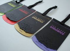 make your brand stick out from the rest with these colourful swingtags Образец ткани на этикетку Ticket Design, Label Design, Hangtag Design, Graphic Design, Swing Tag Design, Ted Baker, Clothing Packaging, Swing Tags, Fashion Tag