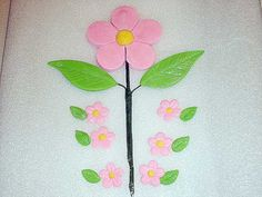 Flower Cake Topper with 30 Cupcake Topper by GumpasteGarden, $20.00