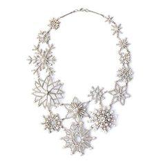 Snowflake Statement Necklace: Noir for Walt Disney Signature celebrates Fanatasia's Anniversary with this snowflake necklace. Noir Jewelry, Jewelry Box, Jewelery, Jewelry Accessories, Jewelry Necklaces, Fashion Jewelry, Jewelry Design, Pandora Jewelry, Wedding Accessories
