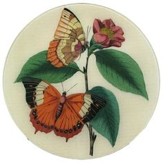 """It's Spring year-round with this beautiful 16"""" butterfly plate."""