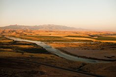 AIN DARA, SYRIA - JUNE 2008. The Tigris forms the natural border between Turkey and Syria before flowing into Iraq.