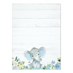 Blue Elephant Baby Shower Invitations for a Boy - Shower . - Blue Elephant Baby Shower Invitations for a Boy – - Elephant Bleu, Elephant Theme, Elephant Baby Showers, Baby Boy Shower, Invitaciones Baby Shower Niña, Baby Elefant, Rustic Baby, Baby Shower Invitations For Boys, Baby Shower Decorations