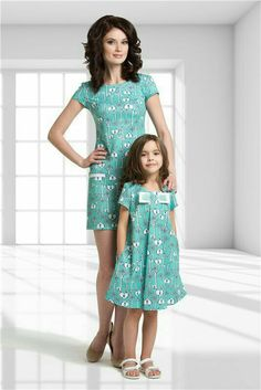 """""""Here's Mommy and me again."""" Mommy And Me Shirt, Mommy And Me Outfits, Family Outfits, Kids Outfits, Mother Daughter Matching Outfits, Mother Daughter Fashion, Mom Daughter, Big Girl Fashion, Toddler Fashion"""