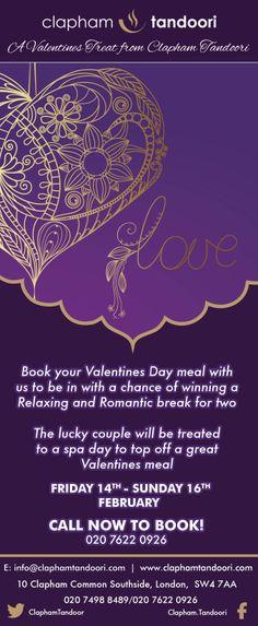 Clapham Tandoori - Valentine's Day newsletter