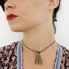 Bohemian Bronze Choker Necklace Hippie Boho von ShemonsterVintage