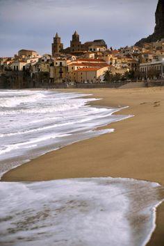 ~ Beach at Cefalu, Sicily