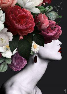 Surealism Art, Flower Collage, Simple Acrylic Paintings, Mother's Day Diy, Beauty Art, Portrait Art, Graphic Design Inspiration, Photo Art, Design Art